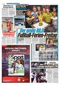 Ferien Aktion In Nrw Bild Zeitung Als Eintrittskarte Ins