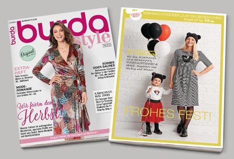 Burda Style inspired by Disney enthält zwölf Kreativ-Projekte: vom Adventskalender über Verpackungsideen bis hin zu festlicher Mode/ Foto: Hubert Burda Media