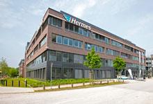 Insgesamt 18 Millionen Euro hat Hermes in das viergeschössige Gebäude  investiert, das sich an das bereits 1998 errichtete Hermes-Gebäude anlehnt.