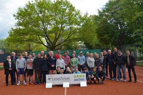 Der Aachener Lesezirkel Limberg engagiert sich als Sponsor der Tennisabteilung des Post-Telekom-Sportvereins 1925 Aachen e.V. / Foto: LZ Limberg