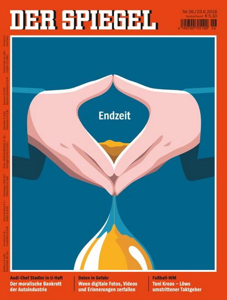 Cover Des Monats Juni 2018 Der Spiegel 26 Uberzeugt Die Jury Mit Der Merkel Raute