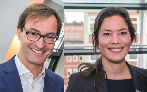 Neue Ansprechpartner für Verlage bei der Deutschen Post: Jens Terboven und Dr. Yuldon Klein. Fotos: Klaus Knuffmann